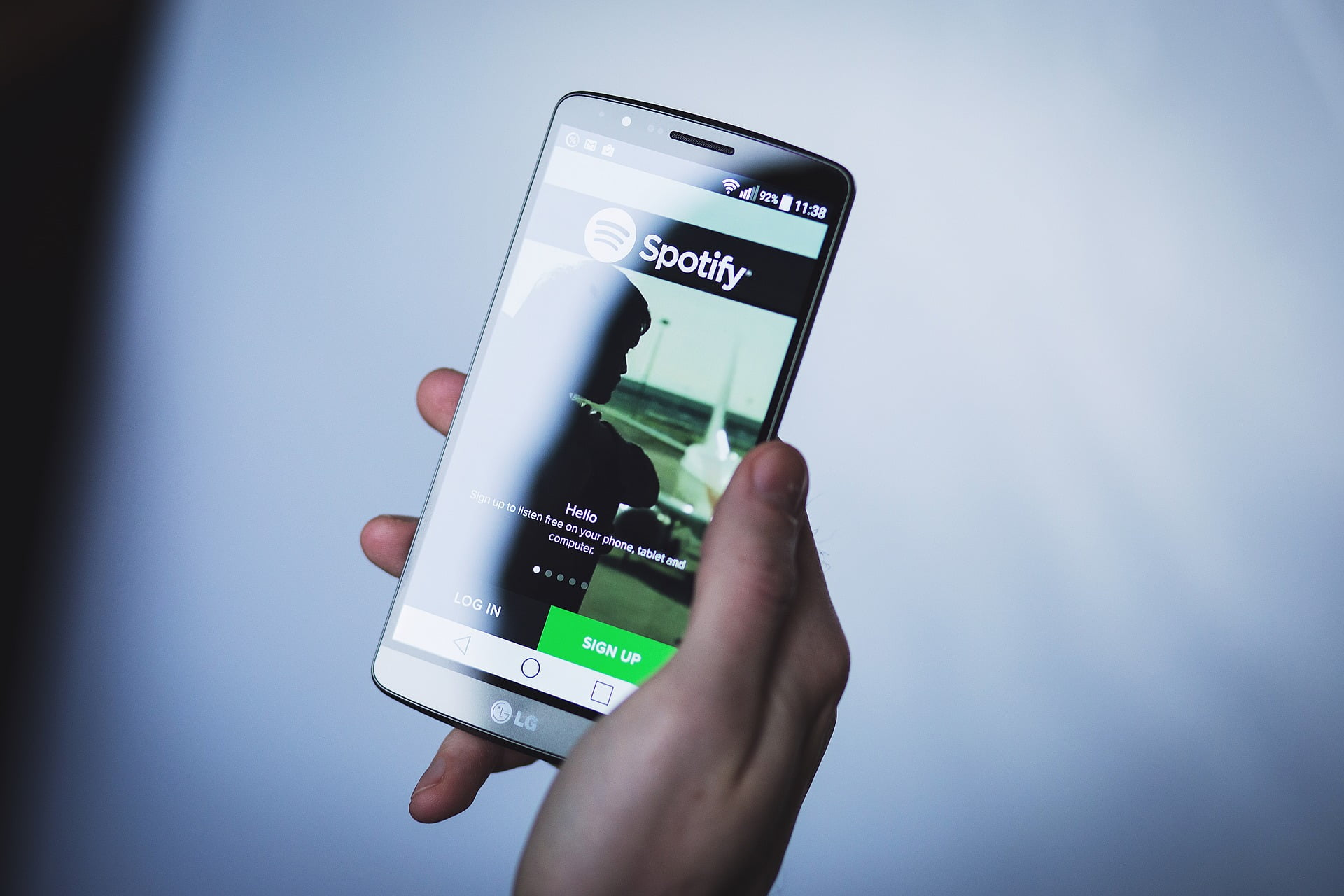 Spotify auf Android Handy
